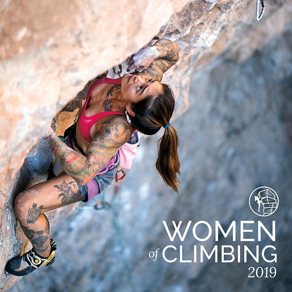 Couverture du calendrier d'escalade Women Of Climbing 2019