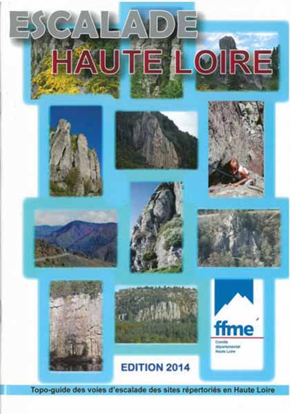 Cover of the guide book Escalade en Haute-Loire