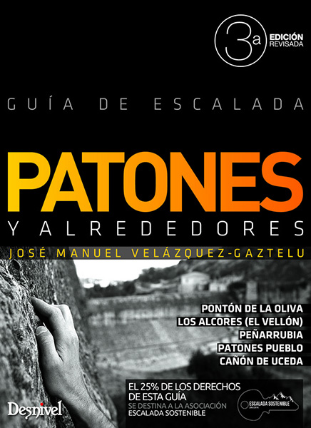 Cover of the guide book Patones y alrededores - Guía de escalada