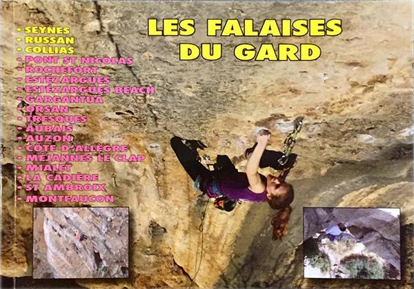 Cover of the guide book Les falaises du Gard