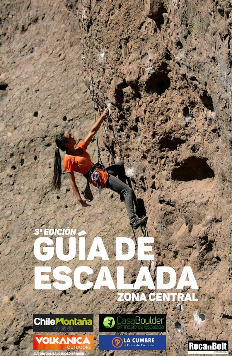 Cover of the guide book Guía de escalada Chile zona central
