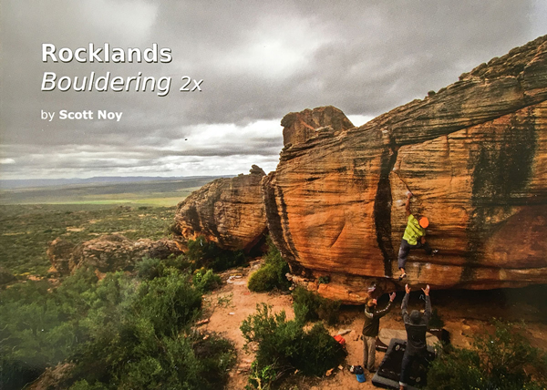 Cover of the guide book Rocklands bouldering 2x