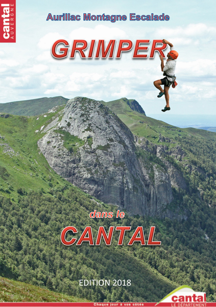 Cover of the guide book Grimper dans le Cantal