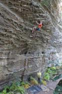 Guilhem  dans No Country for Old Men 5.11b  / Red River Gorge (Muir Valley - Bibliothek)