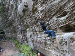 Jean-François  dans The Short, Happy Life of Francis Macomber 5.10b  / Red River Gorge (Muir Valley - Bibliothek)