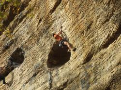 Guilhem  dans Bullfighter 5.12b  / Red River Gorge (Muir Valley - The Arsenal)