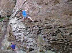 Guilhem  dans K.S.B. 5.10d  / Red River Gorge (The Shire)