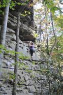 Emeline  dans Crescendo 5.8+  / Red River Gorge (Muir Valley - Practice Wall)
